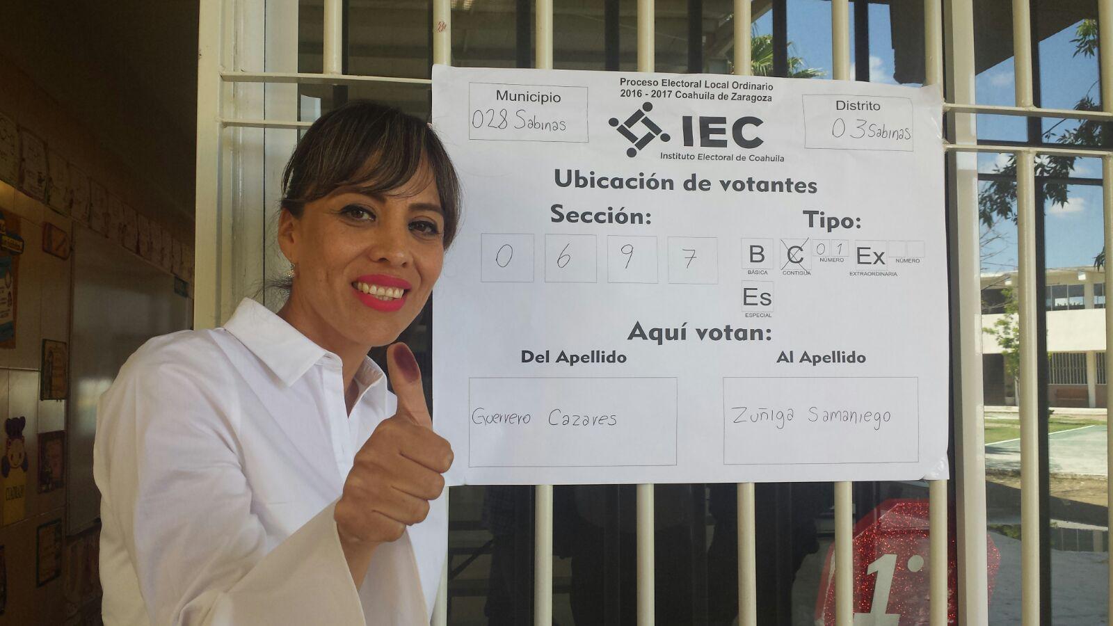 Zulmma Guerrero, candidata a la diputación por el distrito 3 de la Unidad Democrática de Coahuila (UDC), en Sabinas. (Foto: ContraPunto)